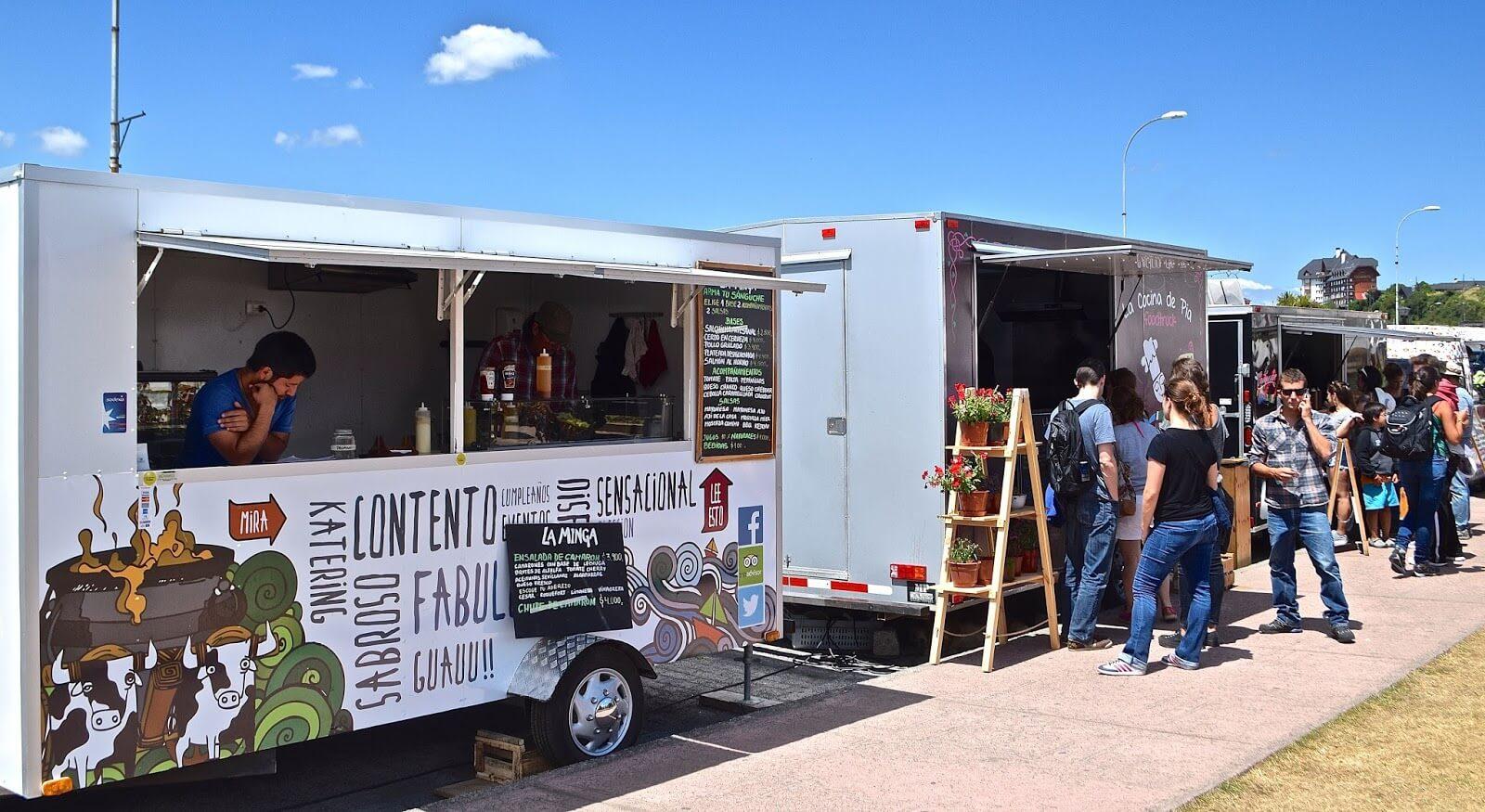 Os estilosos Foodtrucks da Patagônia - Crédito da foto: Southern Cone Travel