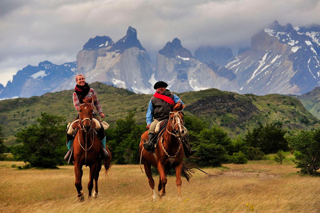 As cavalgadas pela região de Torres del Paine